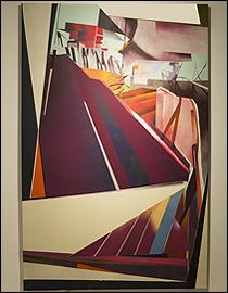 Gonzalo Fuentes. Sin título, 2015. Acrílico y esmalte sintético sobre tela, 170 x 110 cm. Serie Territorios de ficción