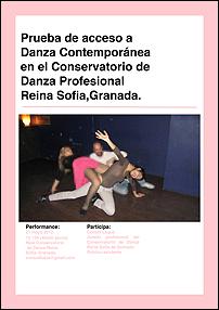 Consol Llupià. Prueba de acceso a Danza Contemporánea en el Conservatorio de Danza Profesional Reona Sofía, Granada