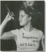 Imagen de una performance de Catarina Campino