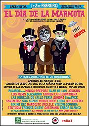 Cartel del festival El Día de la Marmota