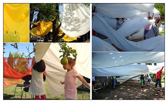 Taller de arquitectura para niños 'Espacios con, desde, entre... objetos cotidianos' [Arquitectura dispuesta: Preposiciones cotidianas]