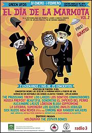 Cartel del festival El Día de la Marmota - 2015