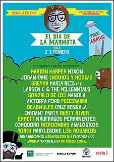 Cartel provisional del festival El día de la marmota - 2018