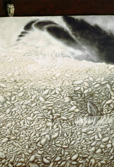 CHEMA COBO. Limes, 1988. Pastel sobre papel. 303 x 202 x 3,5 cm