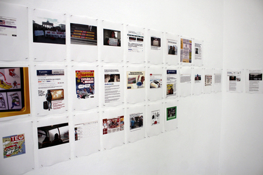 JOSÉ JURADO. Land Escape, 2011-2015. Dimensiones variables. Archivo digital (93 hojas de papel mate de 120 gr. aprox.  tamaño A4, impresión directa desde la impresora el archivo pdf)
