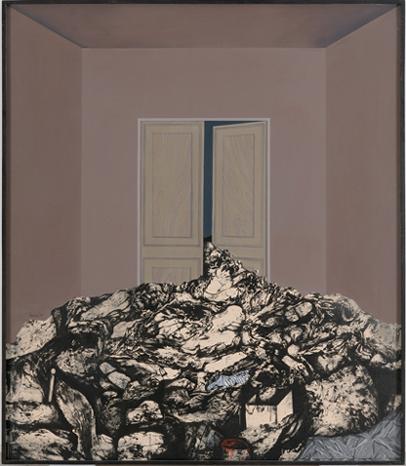 ARTUR HERAS. Inauguración, 1970. 152 x 131,5 cm. Acrílico sobre lienzo