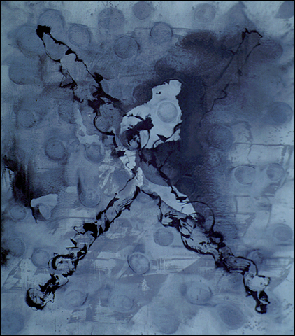 JOSÉ MANUEL BROTO. Reino, 1991. Acrílico sobre tela. 300 x 260 x 3,5 cm
