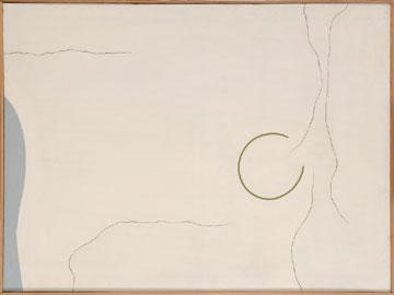 PIC ADRIÁN. Círculo abierto, 1965-66. 97 x 130 cm. Látex y óleo sobre tela