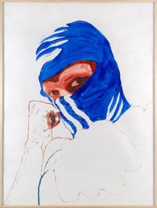 ÁNGELES AGRELA. Sin título, 2003-2005. Serie La Elegida, nº 24. 200 x 150 cm. Acrílico sobre papel para acuarela