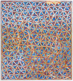 ALFONSO ALBACETE. Anunciación, 1995. 170 x 150,5 cm. Óleo sobre tela