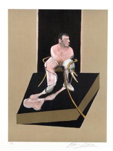 FRANCIS BACON. Estudio para el retrato de John Edwards, 1987. Nº Edición 53/99. 89,5 x 62,5 cm. Aguafuerte