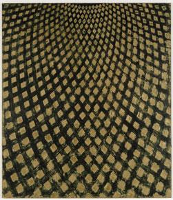ROSS BLECKNER. Cielo invisible # 3, 1994. 269 x 233,5 cm. Óleo y cera sobre lienzo