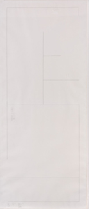 STANLEY BROUWN. Plan architecture, 1986. 213,5 x 89,5 cm. Lápiz sobre papel.