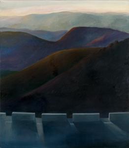 JAVIER BUZÓN. Paisaje V, 1995. 130,5 x 114,5 x 2,5 cm. ÓLeo sobre tela