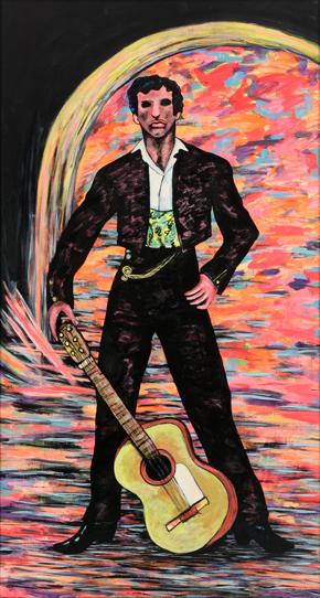 COSTUS. El desafío, 1981. Acrílico sobre contrachapado. 227 x 124 x 4 cm.
