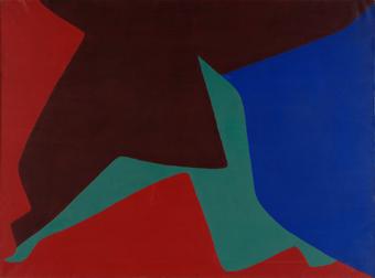 EQUIPO 57. Sin título, 1958. Óleo sobre lienzo. 97 x 130 cm