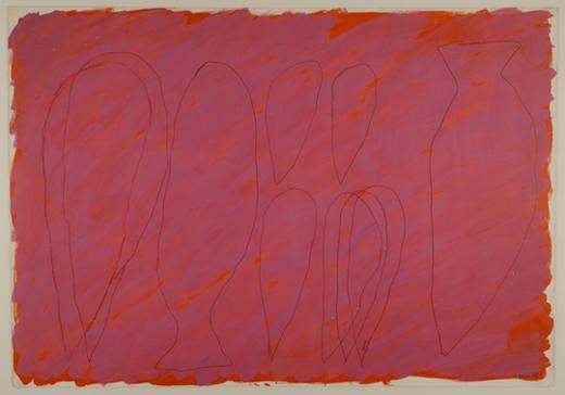 GLORIA GARCÍA LORCA. Sin título, 1985. Pintura sobre cartón. 97,5 x 118,5 x 6 cm.