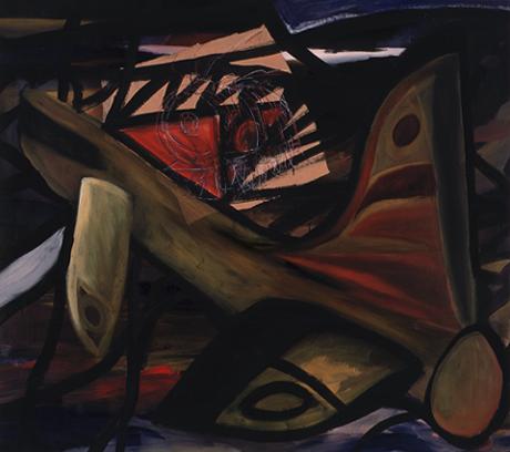 JUAN FRANCISCO ISIDRO. S/T, 1985. Acrílico sobre lienzo. 170,5 x 191 x 3 cm
