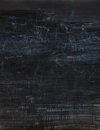 RUTH MORÁN. Filamentos y brisas I, 2009. 180 x 140 cm. Mixta sobre papel