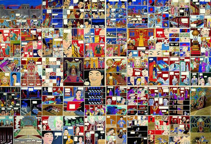 NAZARIO. Historia de Turandot, 1988/89/90. 47 piezas (44 de 33 x 24 cm c/u y 3 de 33,3 x 50,5 cm c/u). Dibujo Técnica mixta
