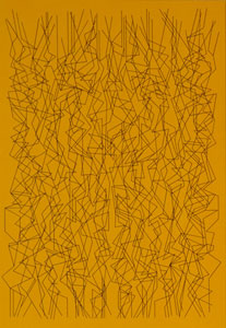 PABLO PALAZUELO. Virtus Marin I, 1995. 220,3 x 152,5 cm. Acrílico sobre tela