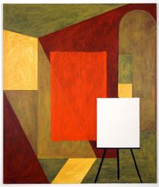 MANOLO QUEJIDO. MANOLO QUEJIDO. Tabique VII, 1991. 200 x 233 cm. Acrílico sobre lienzo, aluminio, hierro y resistencias