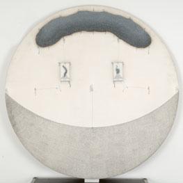 ZUSH-EVRU. Overat, 1976. 169,7 cm. (diam). Acrílico, óleo, grafito, tinta, sobre tela emulsionada