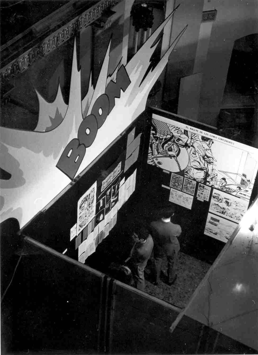 Exposición El Cómic, inaugurada en el MACSE el 8 de mayo de 1971