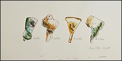 Ana Bella Geiger. Am. Latina - Amuleto, A mulata, A muleta, 1977. Dibujo 48 x 70 cm. Colección de la artista