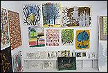 Selecci�n de obras realizada por Alfonso Albacete y Armando Montesinos en el estudio del artista para la exposici�n Asuntos internos