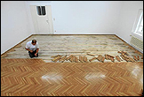 Lara Almarcegui. Removal of the Wooden Floor, Grafisches Kabinett, Secession, Vienna, 2010. Photo: Oliver Ottenschläger