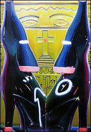 Ana Barriga. Adán y Eva, 2019. 195 x 130 cm