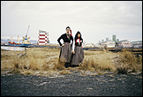 Libia Castro & Ólafur Ólafsson. 'Untitled (Portrait of the artists wearing the Icelandic women's costume; Peysuföt and Upphlutur)', 2000/06