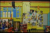 Curro González. La Broma Infinita. Plastilina sobre madera. Formato: 90 x 125 cm. aprox. Propietario: Pilar Aragón y Fernando Iñiguez