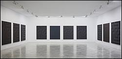 Gerardo Delgado. Rutas de San Mateo GY, 2007-2010. Técnica mixta sobre lienzo, 14 piezas de 185 x 140 cm c/u. Foto de Pablo Ballesteros