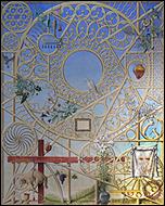 GUILLERMO PÉREZ VILLALTA. V�speras de Pascuas, 2000. Temple vin�lico sobre lienzo. 248 x 201cm