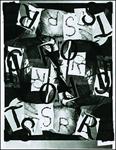 José Luis Castillejo. El escritor (selección), 2013. Tinta y collage sobre fotocopias, 27.9 x 21.5 cm. Archivo Lafuente