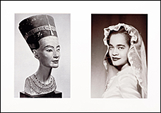 Lorraine O'Grady. Miscegenated Family Album (Sisters I), L: Nefernefruaten Nefertiti; R: Devonia Evangeline O'Grady. 1980/1994. Cibachrome Prints. Courtesy Alexander Gray Associates, New York. © 2015 Lorraine O'Grady / Artist's Rights Society (ARS), New York