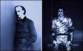 Lorraine O'Grady. The First and Last of the Modernists, Diptych 3 Blue (Charles and Michael) 2010. Fujiflex Print. Courtesy Alexander Gray Associates, New York © 2014 Lorraine O'Grady/ Artists Rights Society (ARS), New York