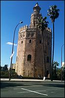 Lotty Rosenfeld. A Mile Of Crosses On The Asphalt, Sevilla (Camino de los Descubrimientos y Torre del Oro), 2013