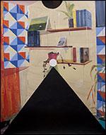 MIKI LEAL. Algo sobre tangram, 2013. Acrílico y acuarela sobre papel, 190 x 152 cm