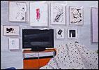 MIKI LEAL. El rinc�n de Tom, 2013. Acr�lico y acuarela sobre papel, 152 x 220 cm