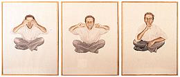 Curro González: Autorretrato del artista como artista I, II y III, 1992