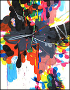 José Piñar. Remasterización 2009 - 2012. Acrílico sobre tela, 230 x 180 cm