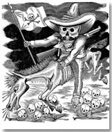 """José Guadalupe Posada: """"Calavera zapatista"""" (medidas: 26 x 36 cm)"""