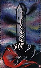 Pepe Espaliú. El creyente, 1987. Técnica mixta sobre lienzo, 130 x 81 cm.