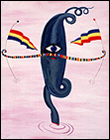 Rafael Agredano. Miss Marte, 1986. Acr�lico sobre lienzo, 92 x 73,4 x 1,8 cm.