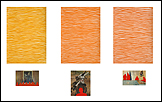 Inmaculada Salinas. Como fondo, 2010-2011. 100 acrílicos sobre papel de 42 x 29,6cm y 100 acrílicos sobre papel prensa, medidas variables [pulsa para ver imagen ampliada]