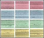 Inmaculada Salinas. Visión de las vencidas, 2008-2009. Grafito sobre fichas de cartulina, 100 piezas de 13 x 20 cm [pulsa para ver imagen ampliada]
