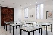 """Vista de sala de la exposición """"Separata. Literatura, arte y pensamiento"""". Fotograf´çia: Guillermo Mendo"""